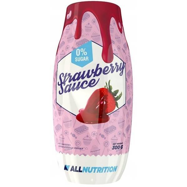 Allnutrition Strawberry Dietary Aromatic Sauce with No Added Sugar and Fat 300g