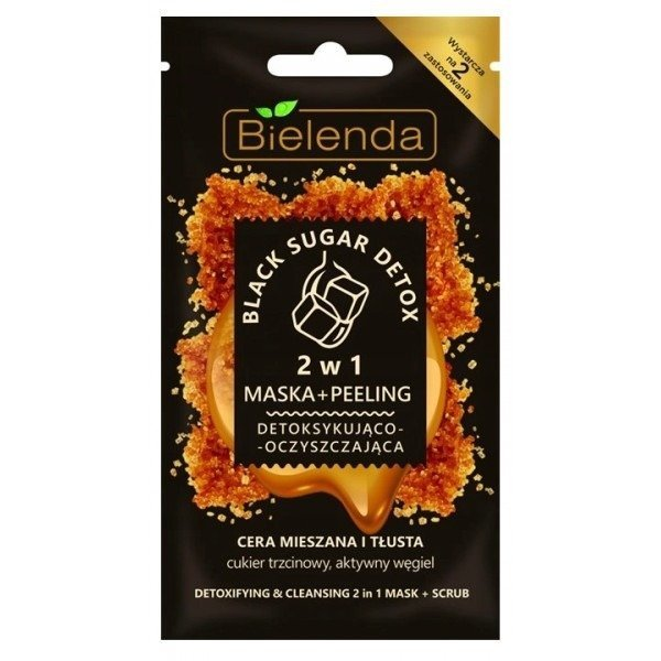 Bielenda BLACK SUGAR DETOX 2in1 Cleansing Detoxifying Mask & Peeling 8g
