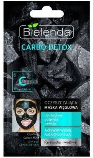 Bielenda Carbo Detox Cleansing Carbon Mask for Dry and Fragile Skin 8g