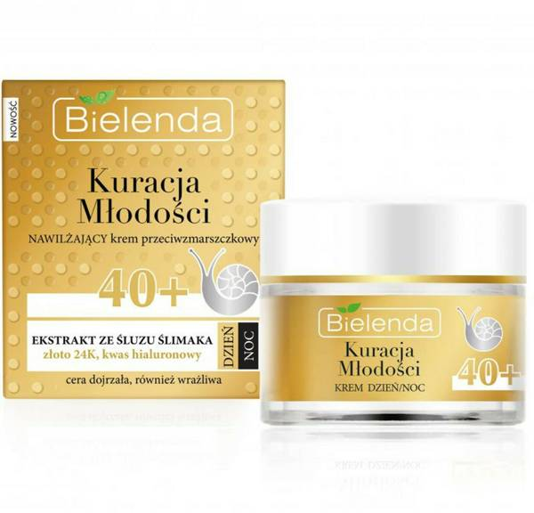 Bielenda Youth Treament Moisturizing Anti-wrinkle Cream Snail Slime Extract 50ml