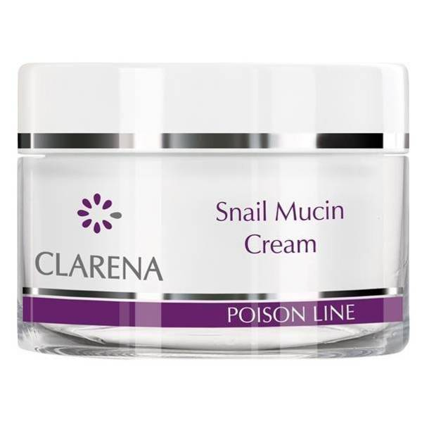 Clarena Poison Line Snail Mucin Regenerating Cream with Snail Slime for Problematic Skin 50ml