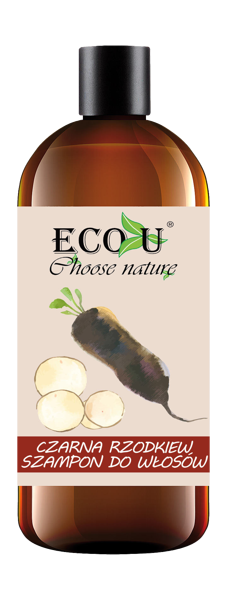 EcoU Black Radish Strengthening Shampoo for Weak and Falling Out Hair 500ml
