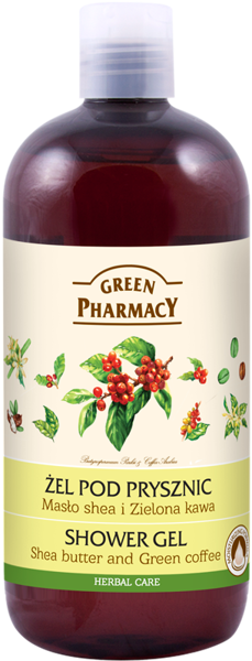 Elfa Pharm Green Pharmacy Shower Gel Shea Butter And Green Coffee 500ml