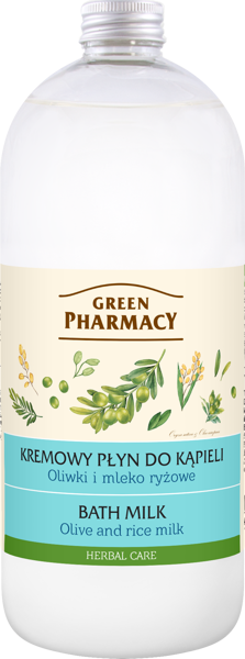 Green Pharmacy Bath Milk Olive and Rice Milk 1000 ml