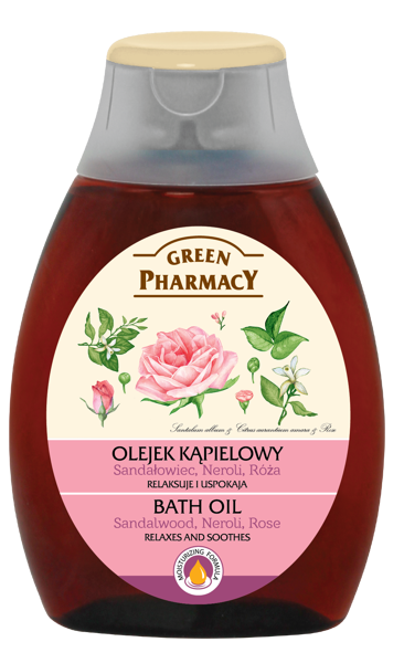 Green Pharmacy Bath Oil Sandalwood Neroli Rose 250 ml