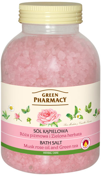 Green Pharmacy Bath Salt Muscat Rose and Green Tea 1300 g