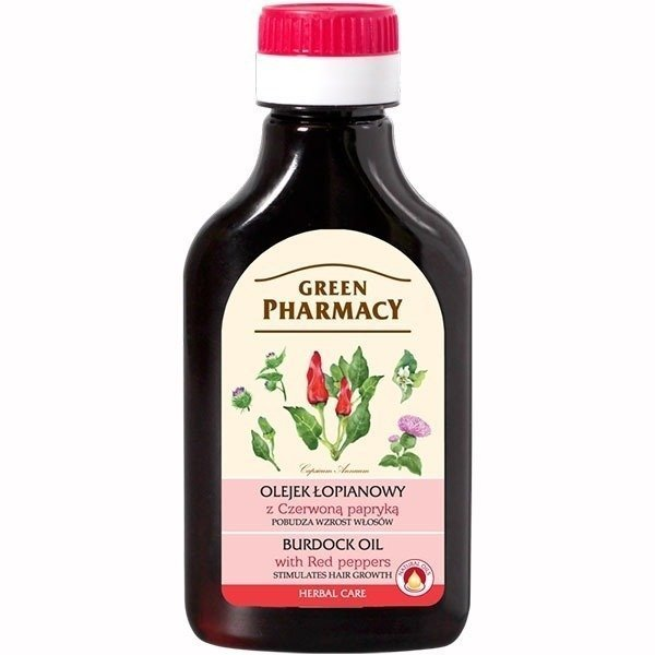 Green Pharmacy Burdock Oil with Red Pepper 100ml