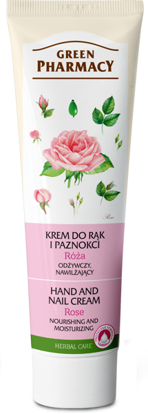 Green Pharmacy Rose Nourishing Moisturizing Hand and Nail Cream 100 ml