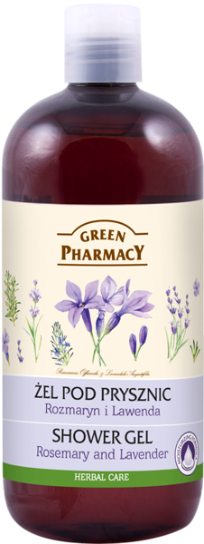 Green Pharmacy Shower Gel Rosemary & Lavender 500ml