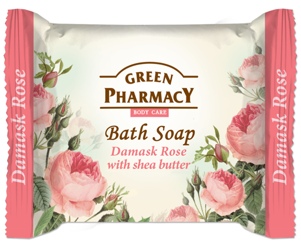 Green Pharmacy Toilet Soap With Extract From Damascus Rose And Shea Butter 100g