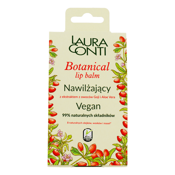 Laura Conti Botanical Vegan Moisturizing Lip Balm with Goji Berry and Aloe Vera Extract 4,8g