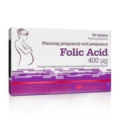 Olimp Food Supplement Folic Acid for Planning Pregnency and Pregnent Woman 30 Caps