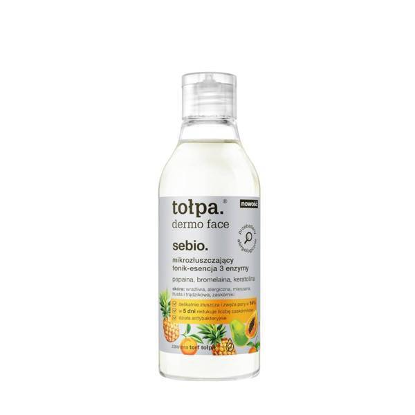 Tołpa Dermo Face Sebio Micro Exfoliating Tonic Essence 3 Enzymes for Sensitive Skin 200ml