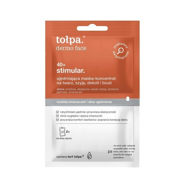 Tołpa Dermo Face Stimular 40+ Regenerating Mask Concentrate for Face Neck Cleavage 2x6ml