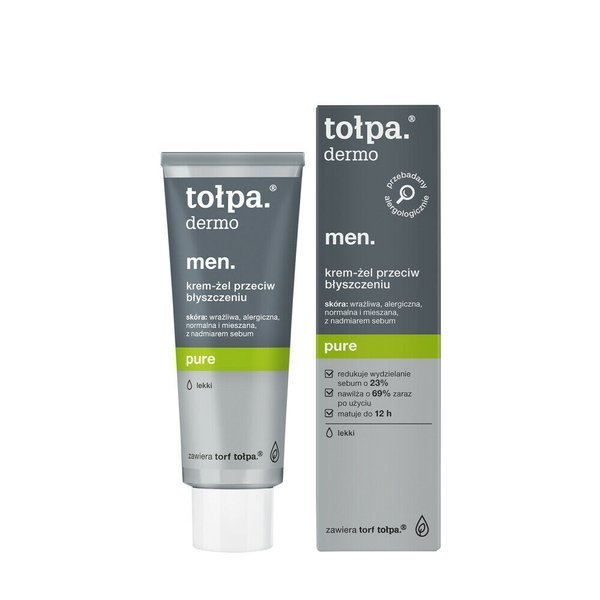 Tołpa Dermo Men Pure Mattifying Cream Gel for Face Reducing Blackheads 40ml