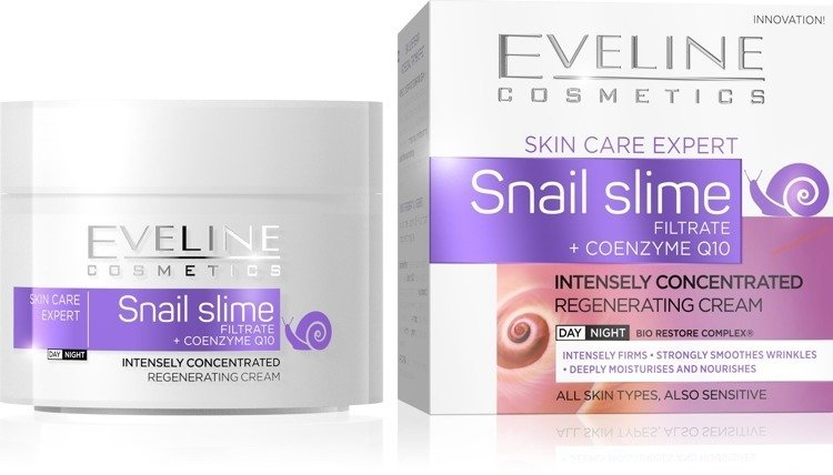 Eveline Snail Slime Filtrate + Coenzyme Q10 Concentrated Day/Night ...