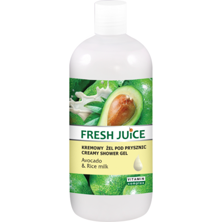 Fresh Juice Creamy Shower Gel Avocado & Rice Milk 500 ml